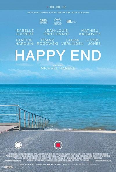 فیلم Happy End داستان خانوادهای بورژوازی است که نسبت به آنچه در اطرافشان میگذرد، بی تفاوت و بی حس اند و دچار نوعی کرختی محض اند.