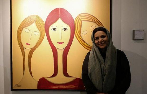 تهمینه میلانی در نمایشگاه نقاشی خود
