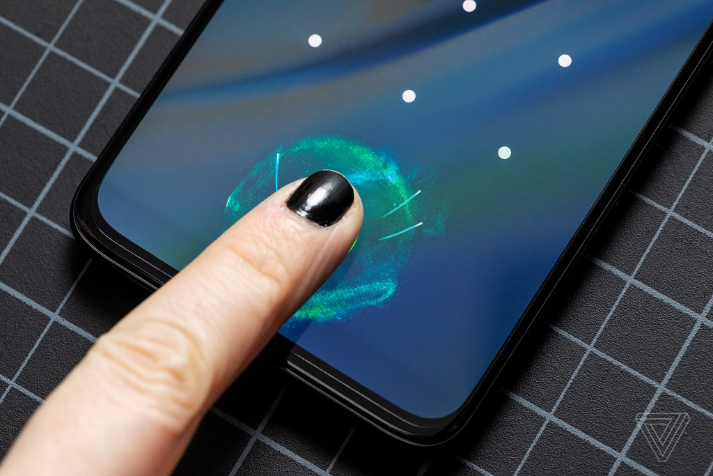 حسگر اثر انگشت درون صفحه ای