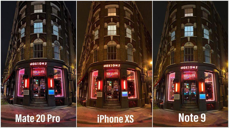 مقایسهی عکاسی 3 پرچمدار، به راحتی میتوان دریافت که mate 20 pro، آیفون xs max و note 9 را شکست میدهد