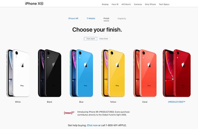 آیفون XR در رنگهای مختلف