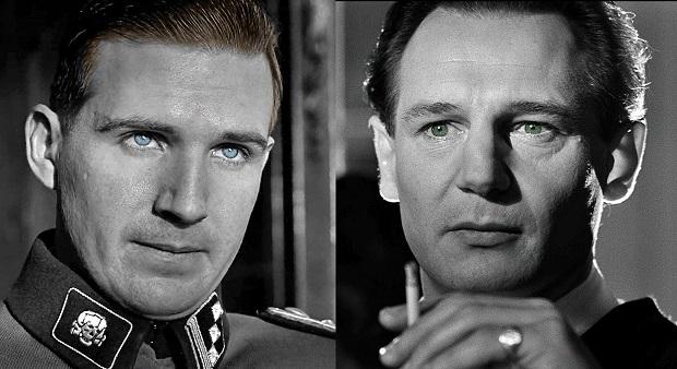 نقش آفرینی رالف فنینز و لیام نسون در فیلم Schindler's List ساخته استیون اسپیلبرگ محصول 1993