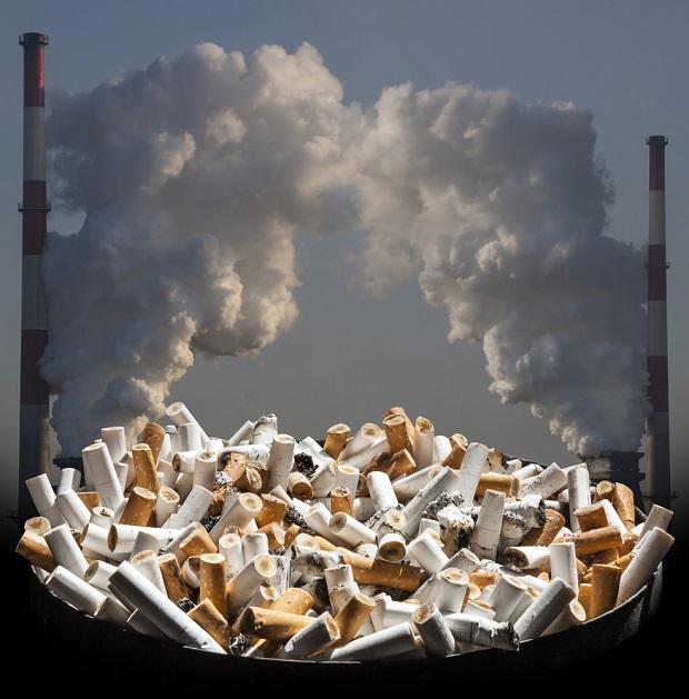 یکی از عوارض سیگار آلوده کردن محیط زیست است