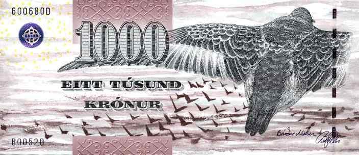 1000 کرونور، جزایر فارو. منبع: The IBNS
