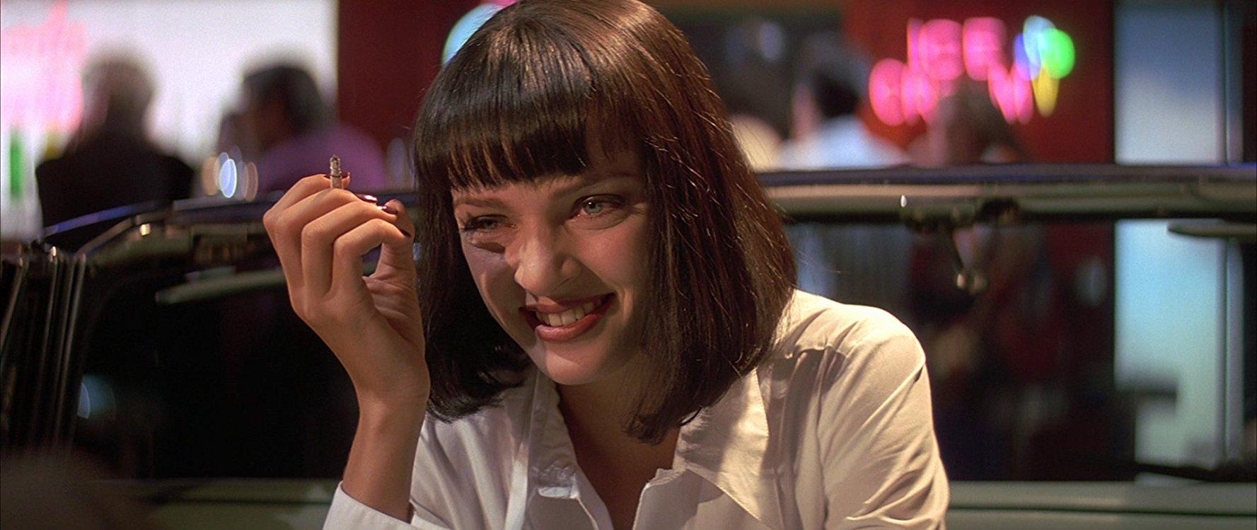 هنرنمایی Uma Thurman در فیلم Pulp Fiction ساختهی کوئنتین تارانتینو
