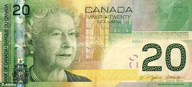 20 دلاری کانادا. منبع: Daily Mail