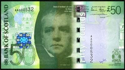 50 پوندی اسکاتلند. منبع: The IBNS