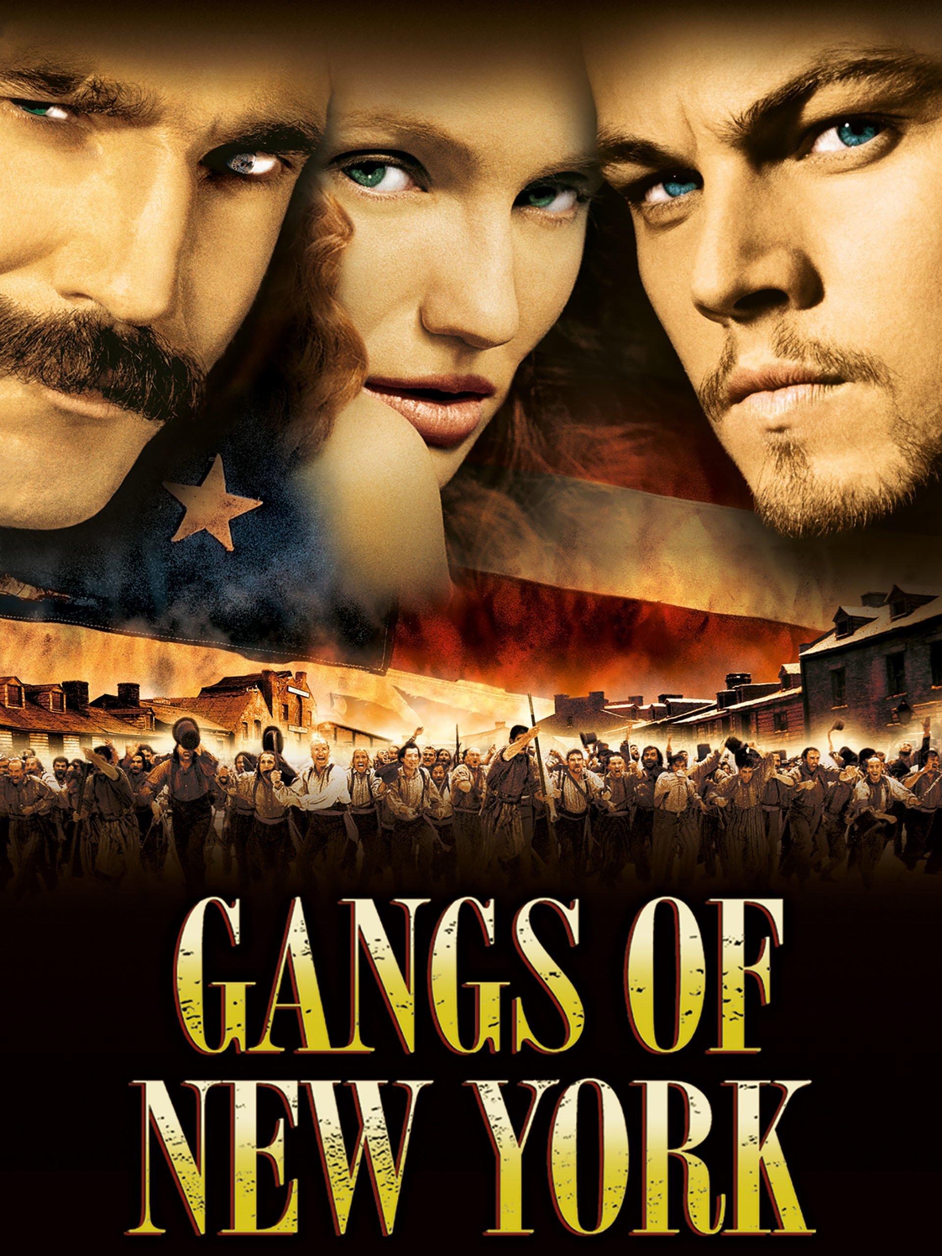 پوستر فیلم دارودسته نیویورکی (با برگردان صحیح تر: دارودسته های نیویورکی ) Gangs of New York