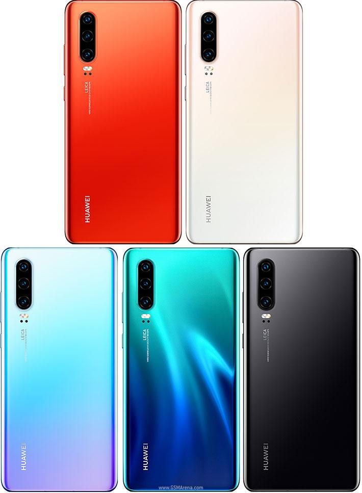 Huawei P30 در رنگهای مختلف