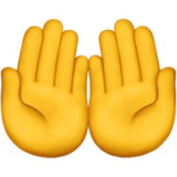 اموجی palms up، دعا کردن یا...