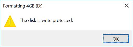 عنوان write protected وقتی به یک فلش یا واحد حافظه اطلاق میشود که شما به هیچ عنوان توانایی حذف یا تغییر فایلها یا محتویات آن را نداشته باشید.