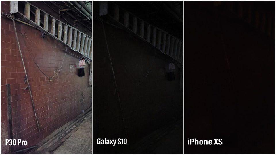 مقایسه دوربین P30 پرو با آیفون XS و گلکسی S10 در محیطی با نور بسیار کم!
