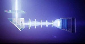 رندری از لنز تله فوتوی پریسکوپ مانند P30 PRO در عمل