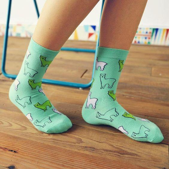 جوراب زنانه مهماندار یا crew socks