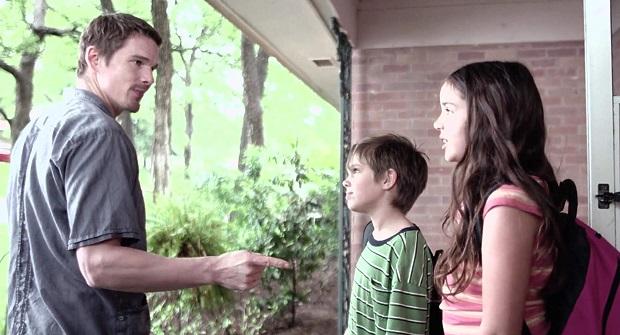 هنرنمایی Ethan Hawke, Lorelei Linklater و Ellar Coltrane در فیلم Boyhood