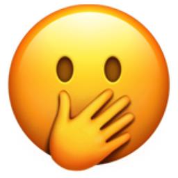 اموجی دست روی دهان یا face with hand over mouth