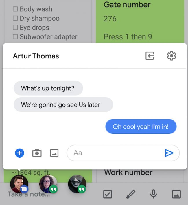 Android Q 'bubbles' multitasking