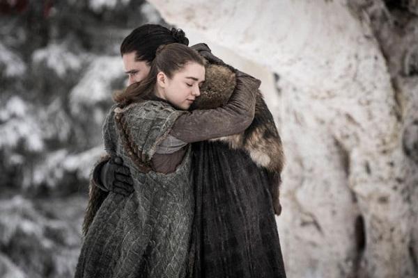 ملاقات جان اسنو و خواهرش آریا در قسمت اول از فصل هشت Game of Thrones