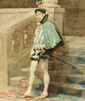 ساقهای جورابی ابریشمی مخصوص آقایان در اواخر قرن ۱۵ وارد بازار شدند.