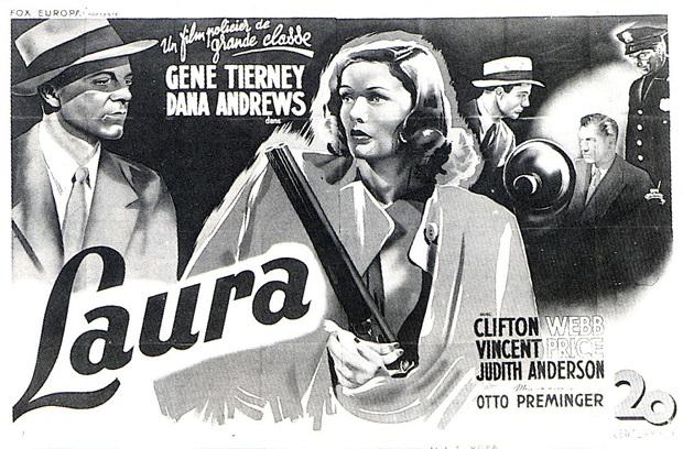 هنرنمایی Gene Tierney, Dana Andrews و Vincent Price در فیلم Laura