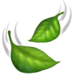 ایموجی 🍃 leaf fluttering in wind