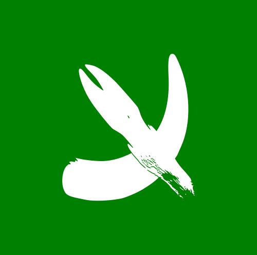 پرچم سم و شاخ سفید قلعه حیوانات که به پرچم داس و چکش شوروی اشاره دارد