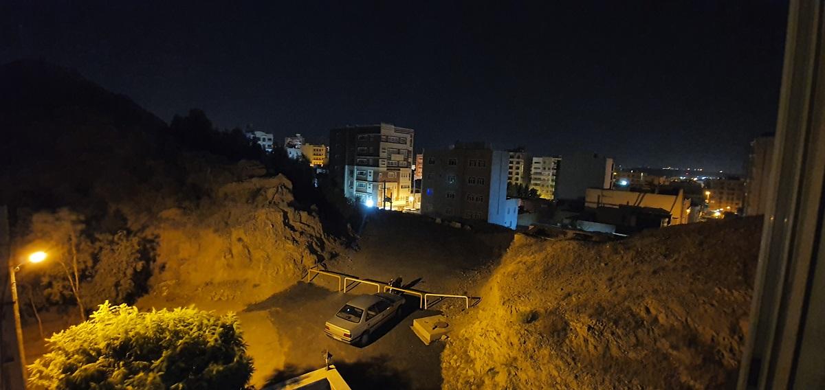 دوربین فوق عریض در هنگام شب، night mode
