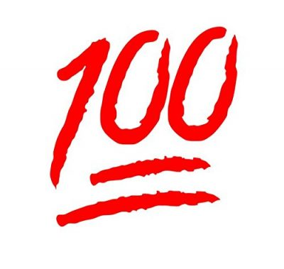 ایموجی 💯 Hundred Points