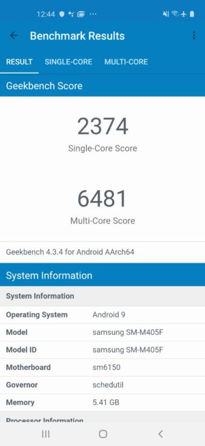 Galaxy M40 Geekbench 4
