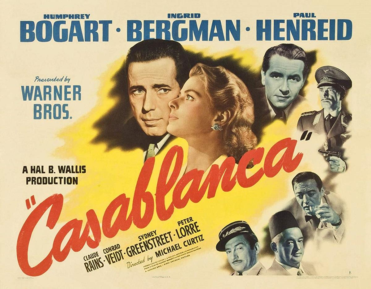 فیلم کازابلانکا به کارگردانی مارتین کورتیز Michael Curtiz و تهیه کنندگی هال بی. والیس در سال ۱۹۴۲ ساخته شده است.