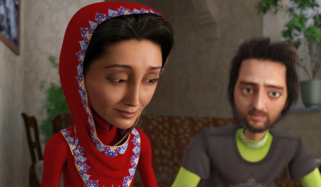 جواد (قهرمان فیلم فارسی) با صداپیشگی بهرام رادان یک رانندهی تاکسی است که در دام عشق نازی گرفتار میشود و باید دیگر رقبا را از سر راه کنار بزند.