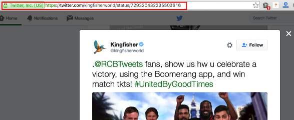 بر روی توئیت مورد نظر خود کلیک کنید و آدرس آن را در URL وب سایت کپی کنید.