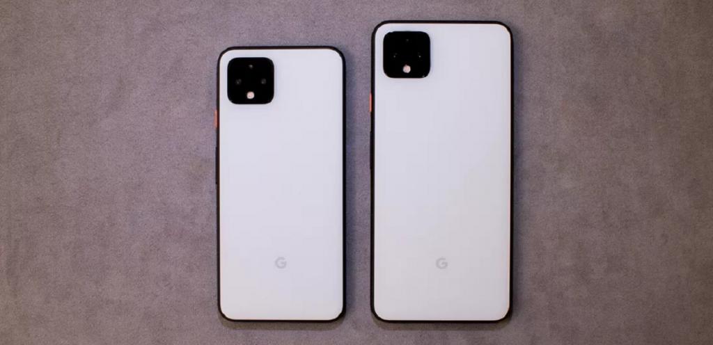 مقایسه ابعاد Pixel 4 و Pixel 4 XL