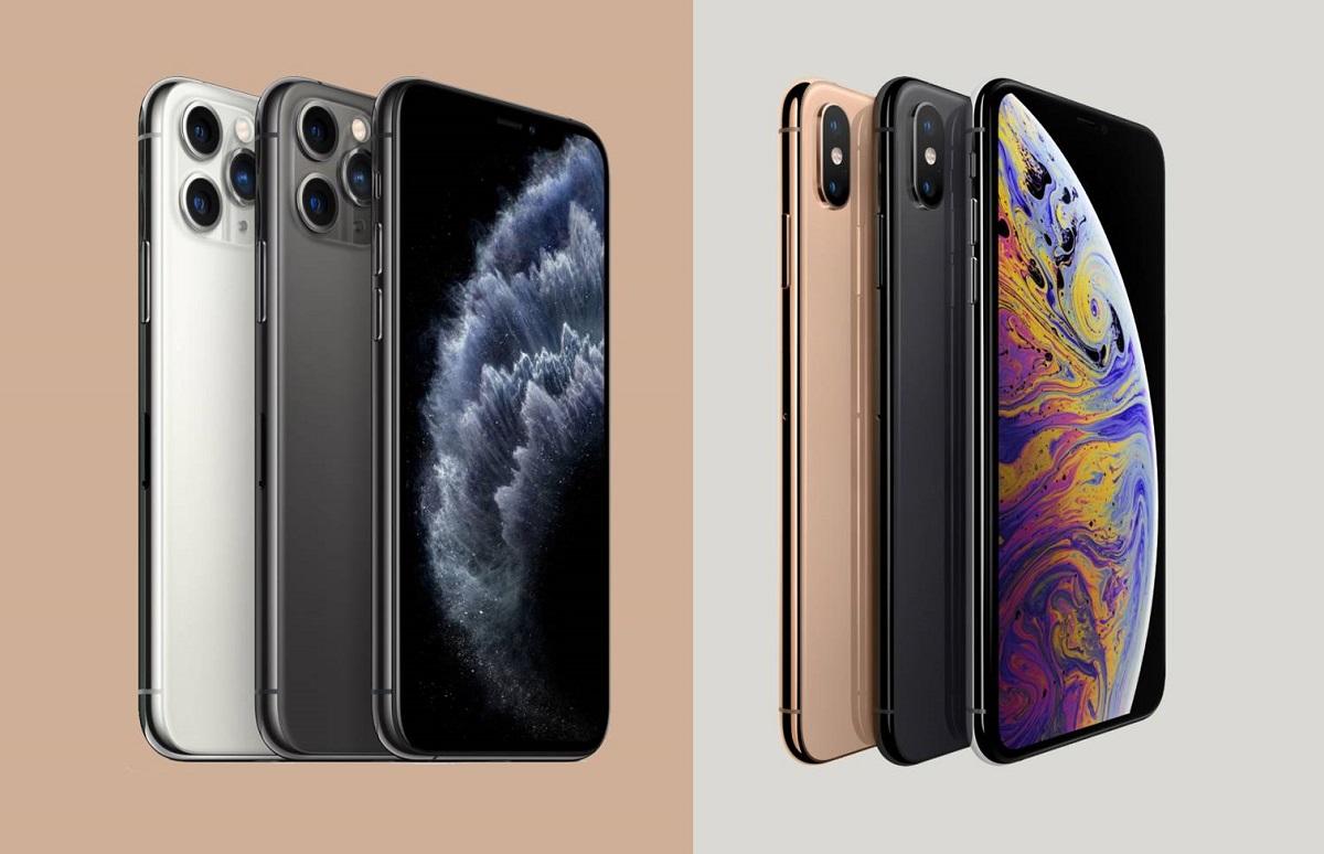 آیفون XS که یکی از پرچم دارهای کمپانی اپل در سال ۲۰۱۸ بود. تنها دارای سه نوع رنگ بندی بود. رنگ هایی که کمپانی اپل در طراحی این گوشی استفاده کرده بود، خاکستری، نقرهای و طلایی است. در حالی که آیفون ۱۱ پرو، از لحاظ رنگ بندی تنوع بیشتری دارد.