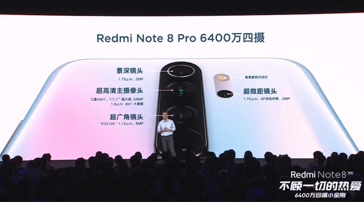 ضمنا، دوربین اصلی ۶۴ مگاپیکسلی در سیستم دوربین ردمی نوت ۸ پرو در وسط قرار گرفته است، دوربین فوق عریض در زیر آن قرار دارد، سنسور تشخیص عمق در بالای دوربین اصلی بوده و دوربین اختصاصی ماکرو هم در زیر فلش LED جای گرفته است.