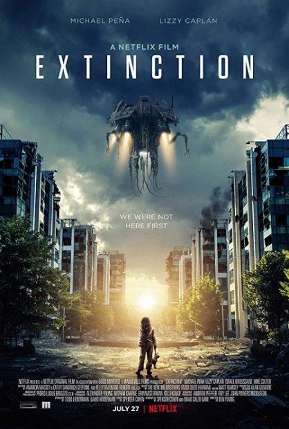 فیلم علمی تخیلی 2018 Extinction ساختهی Ben Young در رابطه با مردی است که تلاش میکند خانوادهی خود را از پدیدهی انقراض نجات دهد غافل از آن که به مرور حقایقی آشکار میشود که معادلات داستان را بر هم میزند.فیلم علمی تخیلی 2018 Extinction ساختهی Ben Young در رابطه با مردی است که تلاش میکند خانوادهی خود را از پدیدهی انقراض نجات دهد غافل از آن که به مرور حقایقی آشکار میشود که معادلات داستان را بر هم میزند.