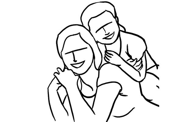 در این ژست مادر به شکم بر روی زمین دراز میکشد و سر خود را بالا نگه میدهد.