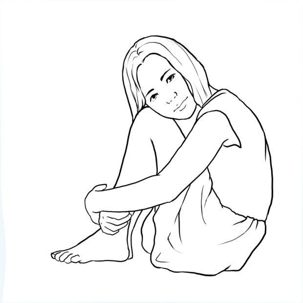 نشستن بر روی زمین هم میتواند سبب ایجاد یک ژست زیبا برای عکاسی از کودک شود.