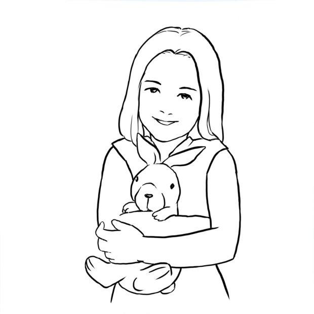 برای داشتن یک ژست عکاسی عالی از کودک، میتوانید از کودکان بخواهید که حیوانات خانگی خود مانند خرگوش، لاک پشت و یا عروسکهای خود را به حالتهای مختلف بغل کرده و در بغل خود نگه دارند.