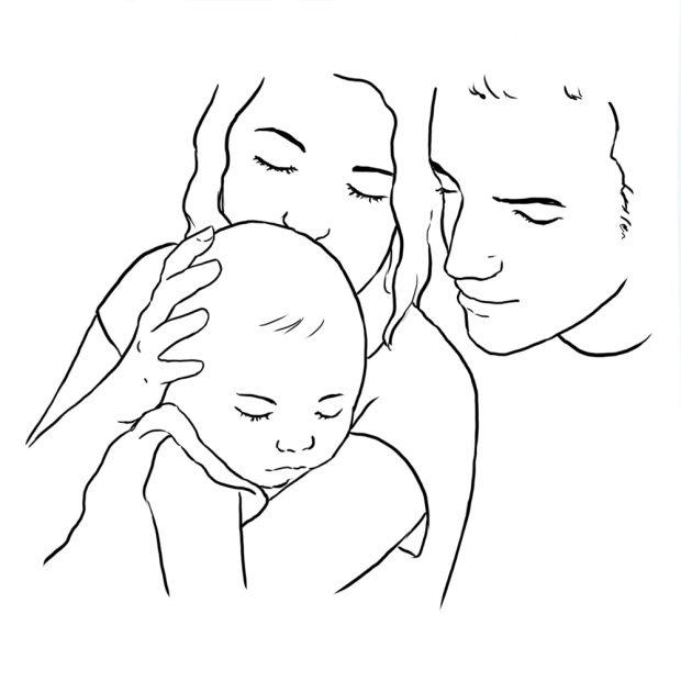 برای عکسی از کودک و به دست آوردن ژستهای زیبا میتوان از خانواده کودک استفاده نمود.