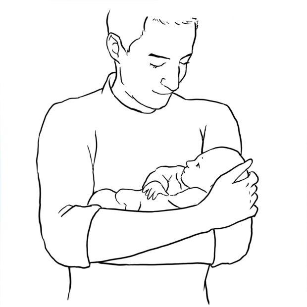 یک ژست بسیار خوب و عالی برای عکاسی از کودک، بغل کردن کودک است.