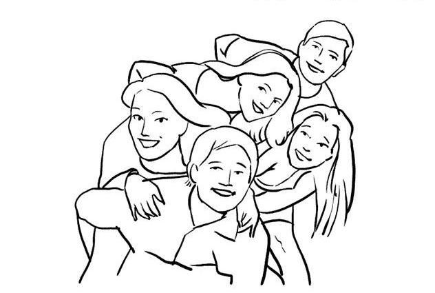 این ایده عکس گروه برای گرفتن یک ژست بسیار دوستانه و صمیمی است.
