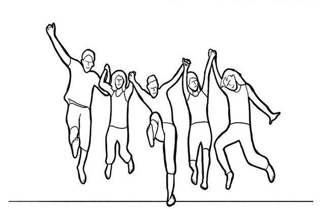 در این حالت، از گروه بخواهید که همگی در یک حرکت هماهنگ فعالیتی مانند پریدن به هوا را انجام دهند. در این حالت، باید عکس گرفته شود.